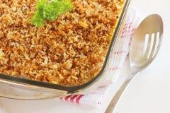 Crispy casserole topping Stock Image