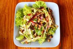 Crispy catfish green mango salad Royalty Free Stock Photos