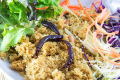 Crispy catfish with green mango salad Royalty Free Stock Photo
