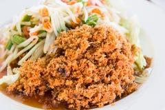 Crispy catfish salad. Stock Photos