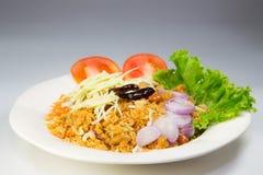 Crispy catfish salad with green mango Royalty Free Stock Image