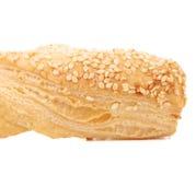Crispy cheese cracker with sesame. Stock Image