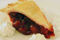 Crispy cherry pie Stock Photo