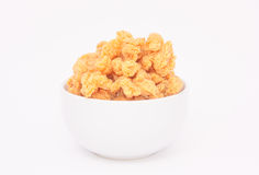 Crispy chicken. Deep fried crispy chicken in white bowl Stock Photography