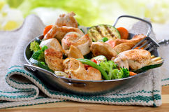 Crispy chicken fillet Stock Image