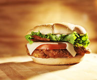 Crispy chicken sandwich Royalty Free Stock Photography