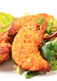 Crispy chicken tenders Royalty Free Stock Images