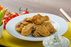 Crispy chicken wings Royalty Free Stock Photo