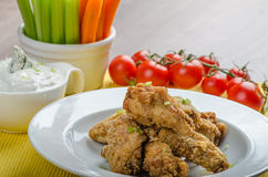 Crispy chicken wings Royalty Free Stock Photos
