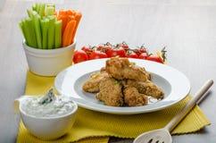 Crispy chicken wings Stock Photos