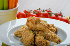 Crispy chicken wings Royalty Free Stock Image