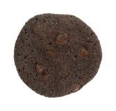 Crispy chocolate chip brownie cookie Stock Image