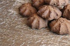 Chocolate shortbread cookie. delicious shortbread cookies with cocoa. Crispy chocolate shortbread cookie. delicious shortbread cookies with cocoa Stock Images