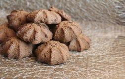 Chocolate shortbread cookie. delicious shortbread cookies with cocoa. Crispy chocolate shortbread cookie. delicious shortbread cookies with cocoa Stock Photo