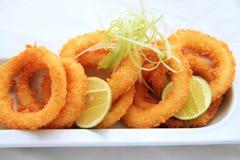 crispy cirkeltioarmad bläckfisk Royaltyfri Fotografi