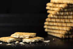 Crispy crackers Royalty Free Stock Images
