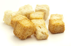 Crispy croutons Royalty Free Stock Photo