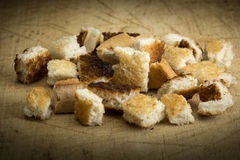 Crispy croutons Stock Images