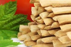 Crispy crunchy wheat breadsticks Stock Images
