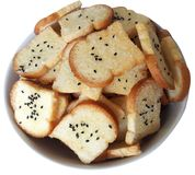 Crispy cukieru i masła chleb Fotografia Royalty Free