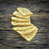 Crispy czosnku chleb Zdjęcie Stock