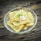 Crispy czosnku chleb Zdjęcia Royalty Free