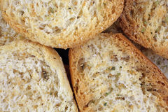Crispy Dried Bread up Close Royalty Free Stock Photography