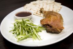 Crispy duck leg Royalty Free Stock Photo