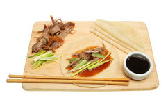 Crispy duck and pancakes Royalty Free Stock Images