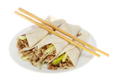 Crispy duck pancakes Royalty Free Stock Photo