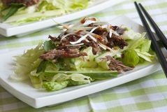 Crispy duck salad Stock Photo