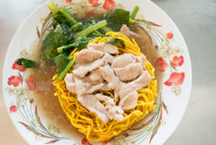 Crispy egg noodles in thick Gravy Royalty Free Stock Images