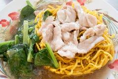 Crispy egg noodles in thick Gravy Stock Photo