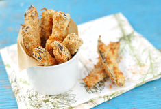 Crispy Eggplant Fries, selective focus Stock Image