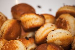 Crispy fired cookies close up royalty free stock image