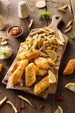 Crispy Fish and Chips Royalty Free Stock Photography