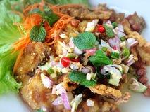Crispy Fish Salad. Thai-styled crispy and spicy fish salad Stock Images