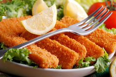 Crispy fish sticks Stock Photo