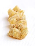 Crispy flaky delicious baklava - focus in front Stock Photography