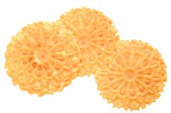 Crispy flavored waffles Stock Image