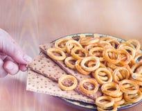 Crispy food on table crispbread Stock Images