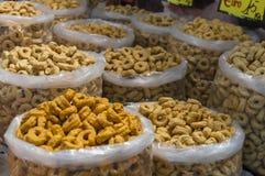 Crispy, fragrant taralli od Puglia, Włochy Fotografia Stock