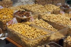 Crispy, fragrant taralli Puglia, Włochy Zdjęcie Royalty Free