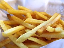 Crispy French Fries in Basket Royalty Free Stock Photography
