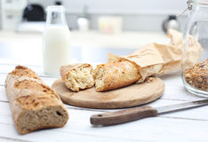 Crispy and fresh bread Royalty Free Stock Images