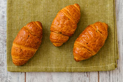 Crispy Fresh Croissants Stock Photography
