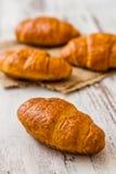 Crispy Fresh Croissants Stock Photo