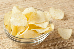 Crispy Fresh Potato Chips Royalty Free Stock Images
