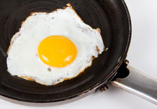 Crispy fried chicken egg isolated Stock Photography