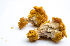 Crispy Fried Chicken. Isolated Over White background Royalty Free Stock Images
